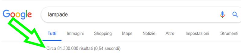 risultati parola lampade su google